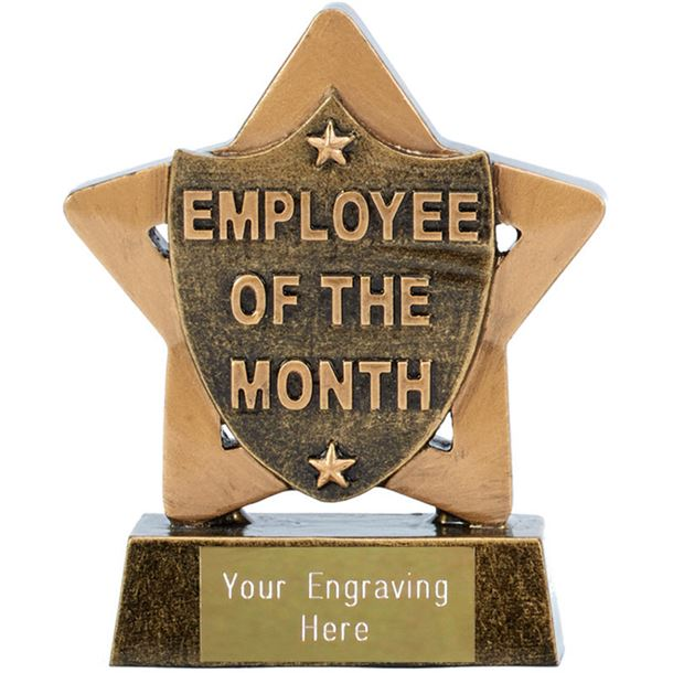 """Employee Of The Month Mini Star Trophy 8.5cm (3.25"""")"""