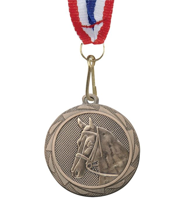 "Equestrian Fusion Medal Bronze with Medal Ribbon 45mm (1.75"")"