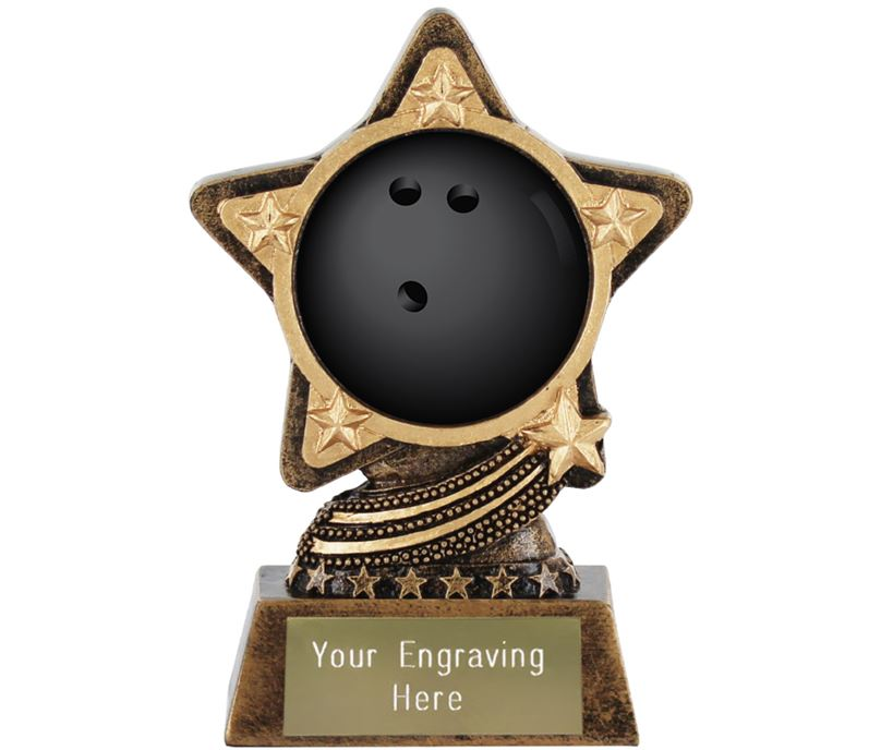"""Centre Tenpin Bowling Trophy by Infinity Stars 10cm (4"""")"""