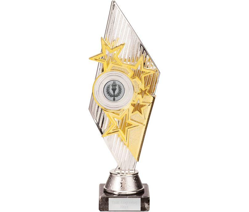 Dance Pizzazz Trophy Silver & Gold 27cm