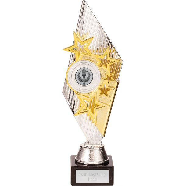 Dance Pizzazz Trophy Silver & Gold 28cm