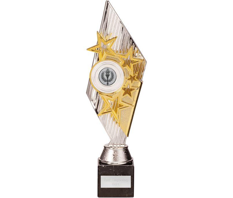 Dance Pizzazz Trophy Silver & Gold 30cm