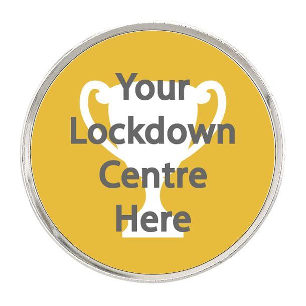 """Lockdown Pin Badge 2.5cm (1"""")"""