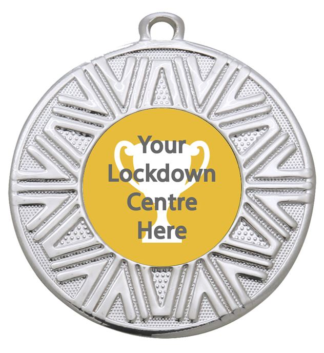 "Lockdown Achievement Medal Silver 50mm (2"")"