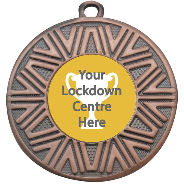 "Lockdown Achievement Medal Bronze 50mm (2"")"