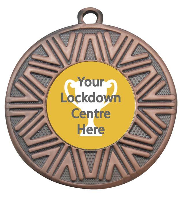 """Lockdown Achievement Medal Bronze 50mm (2"""")"""