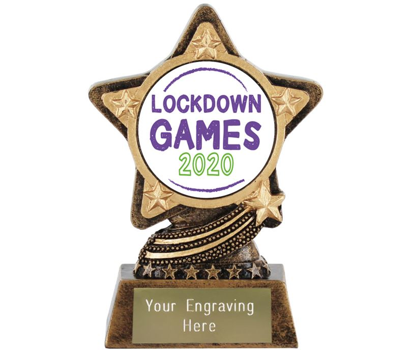 "Lockdown Games Trophy by Infinity Stars 10cm (4"")"