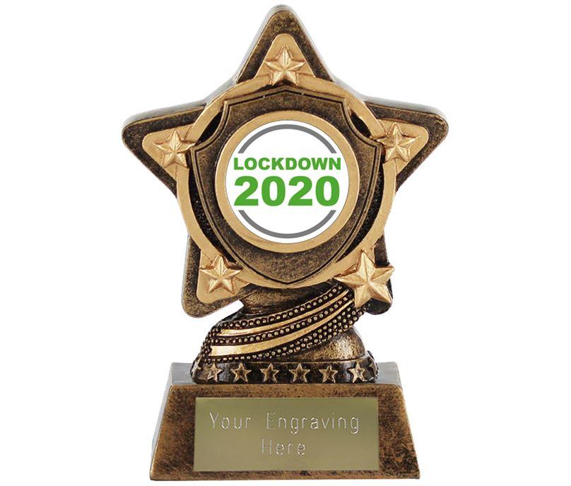 "Lockdown 2020 Centre Trophy by Infinity Stars 10cm (4"")"
