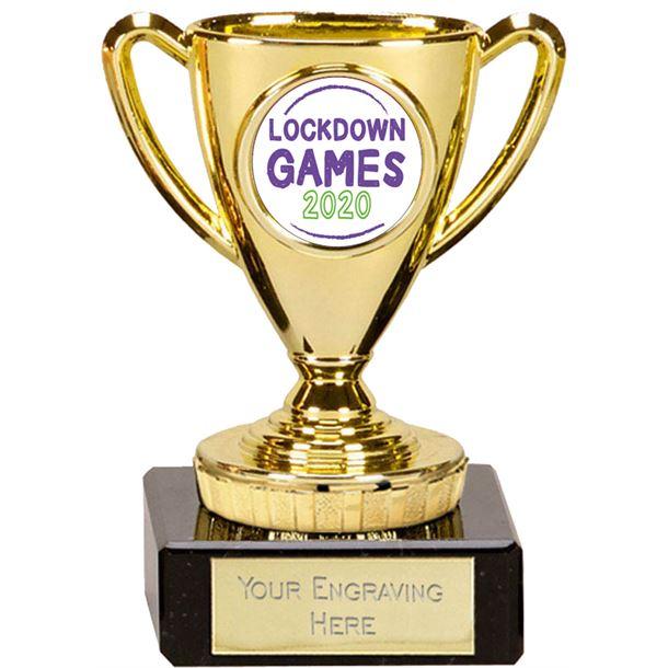 "Lockdown Games Mini Cup Trophy 10cm (4"")"