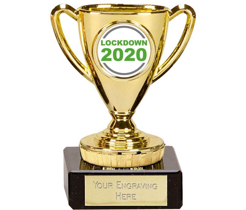 "Lockdown 2020 Mini Cup Trophy 10cm (4"")"
