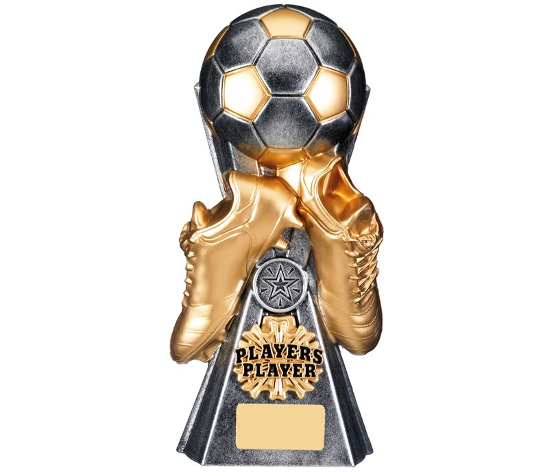 "Gravity Football Players Player Trophy Antique Silver 26cm (10.25"")"