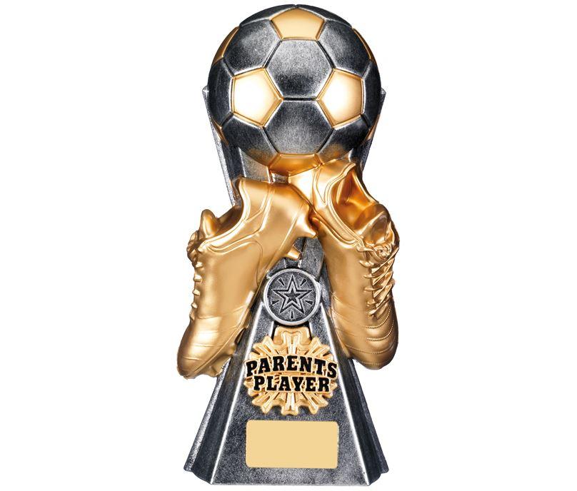 "Gravity Football Parents Player Trophy Antique Silver 26cm (10.25"")"