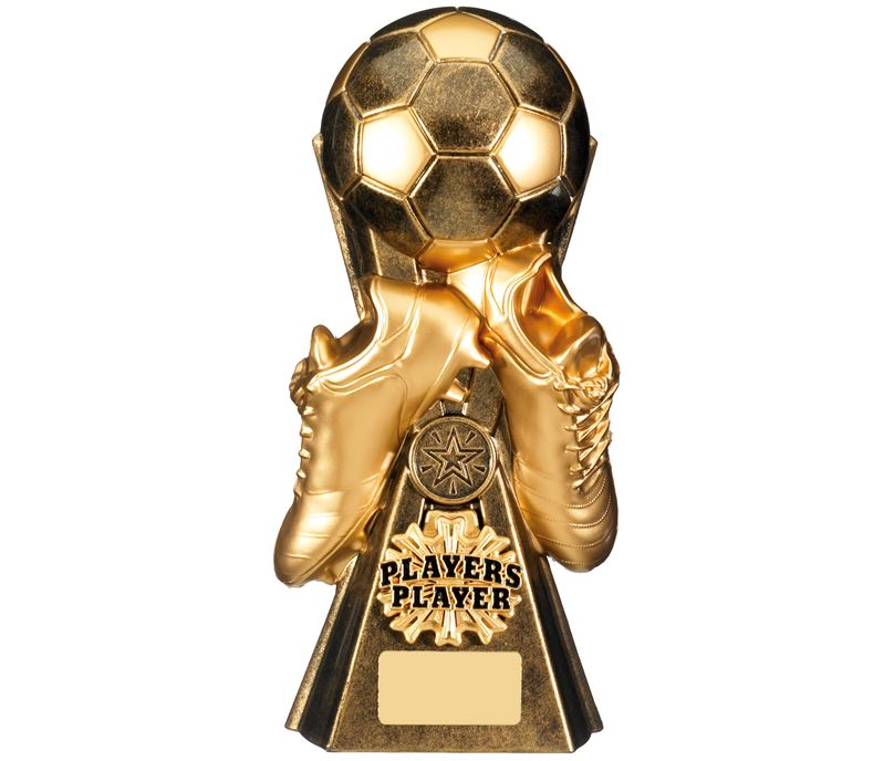 """Gravity Football Players Player Trophy Antique Gold 26cm (10.25"""")"""