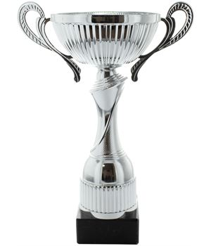 """Silver Trophy Cup with Spiral Stem 20cm (8"""")"""