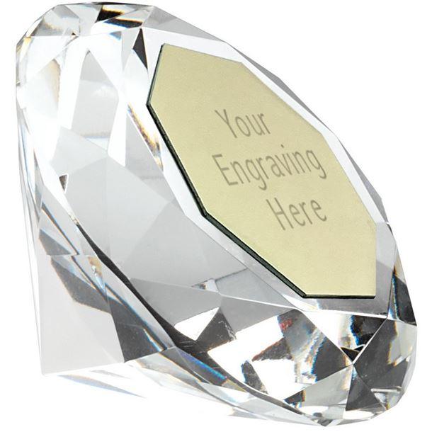 "Clarity Diamond Paperweight Award 10cm (4"")"