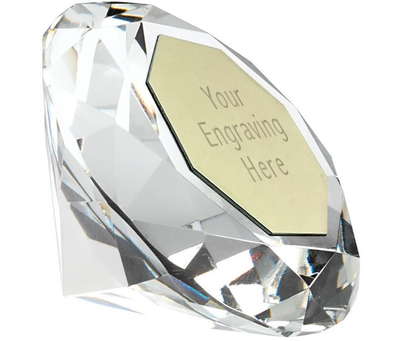 "Clarity Diamond Paperweight Award 6.5cm (2.5"")"