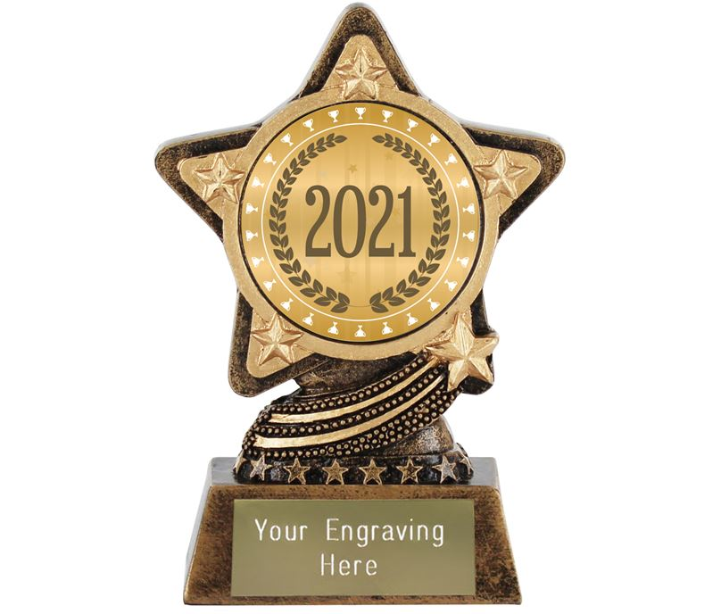 "2021 Trophy Laurel Wreath by Infinity Stars 10cm (4"")"