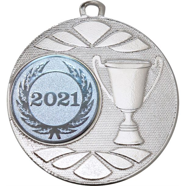 """Multi Award Cup 2021 Medal Silver 50mm (2"""")"""