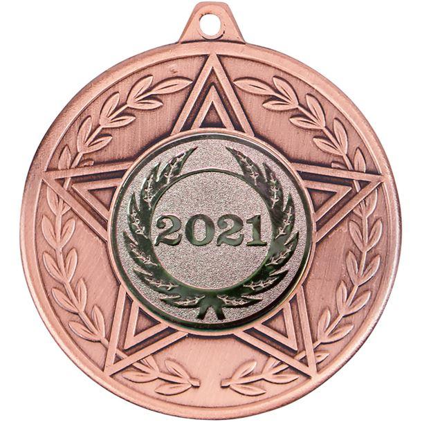 "Caesar 2021 Achievement Medal Bronze 50mm (2"")"