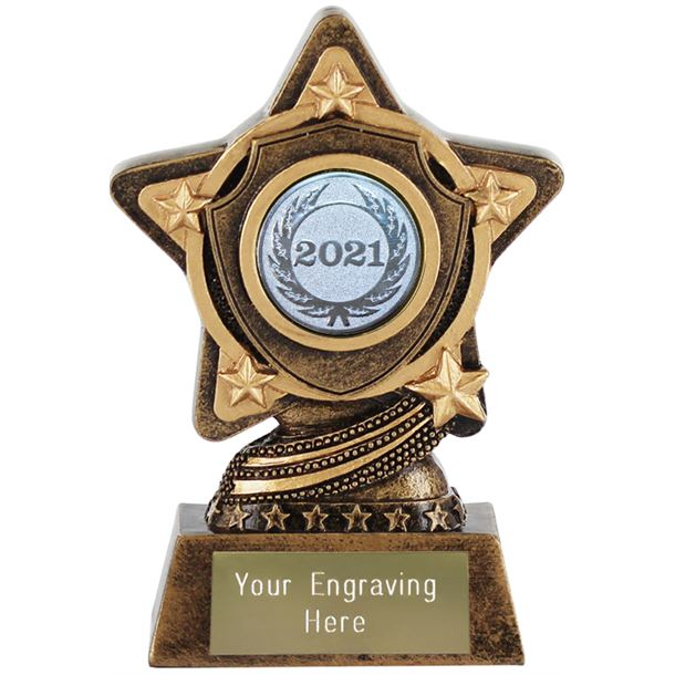 """2021 Silver Centre Shield Trophy by Infinity Stars 10cm (4"""")"""