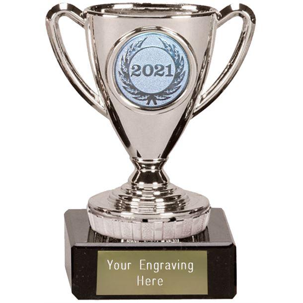 "2021 Silver Mini Cup Trophy 10cm (4"")"