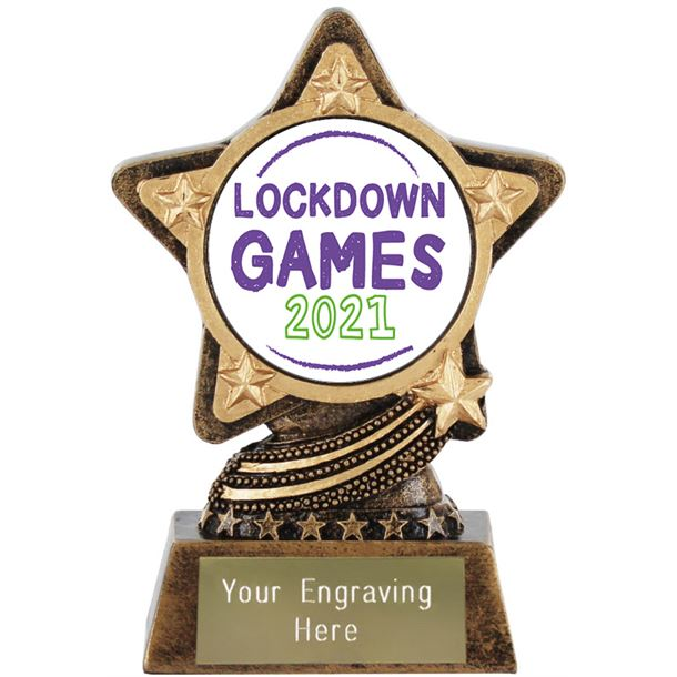 "2021 Lockdown Games Trophy by Infinity Stars 10cm (4"")"