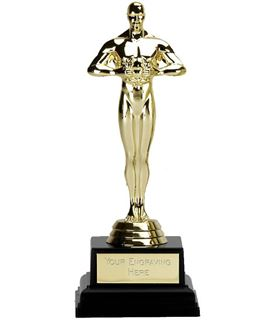 "Gold Achievement Multi Award Statue Trophy on Black Base 17cm (6.75"")"