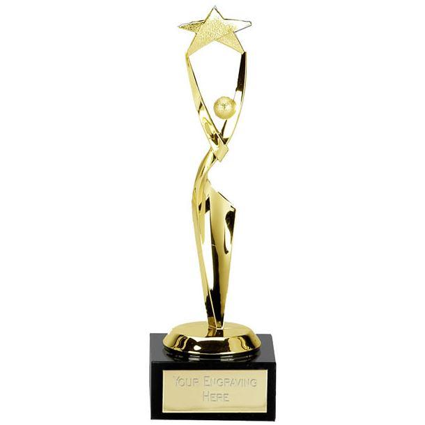 """Gold Spiral Multi Awards Trophy 21cm (8.25"""")"""