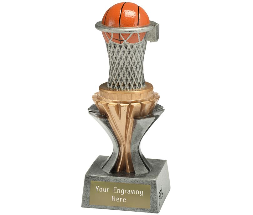 "Flexx Basketball Trophy Silver and Gold 17cm (6.75"")"