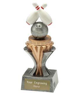 "Flexx Bowling Trophy Silver and Gold 17cm (6.75"")"