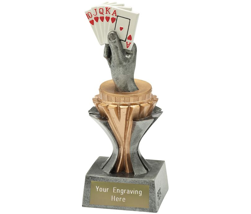 """Flexx Cards Trophy Silver and Gold 17cm (6.75"""")"""