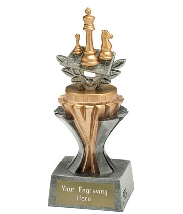 "Flexx Chess Trophy Silver and Gold 17cm (6.75"")"