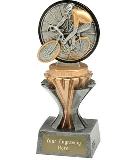 "Flexx Cycling Trophy Silver and Gold 17cm (6.75"")"