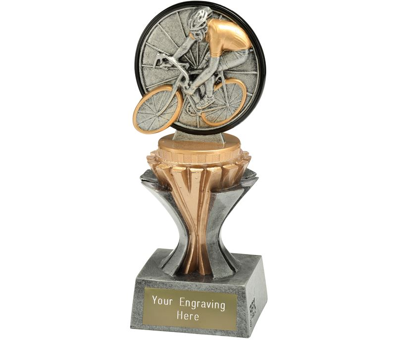 """Flexx Cycling Trophy Silver and Gold 17cm (6.75"""")"""