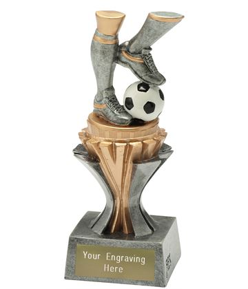 "Flexx Action Football Trophy Silver and Gold 17cm (6.75"")"