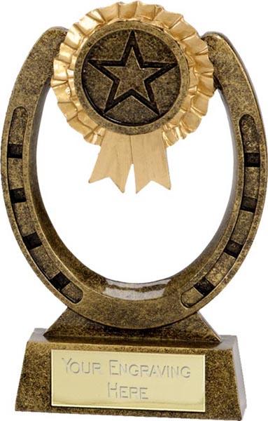 "Antique Gold Horse Shoe Award 10cm (4"")"