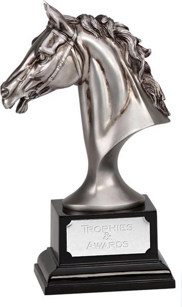 "Silver Horse Head Emblem Award 19cm (7.5"")"