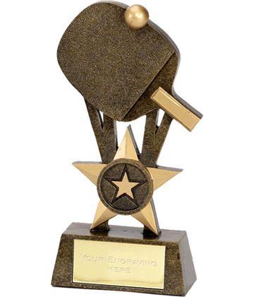 """Table Tennis Bat Trophy 18.5cm (7.25"""")"""