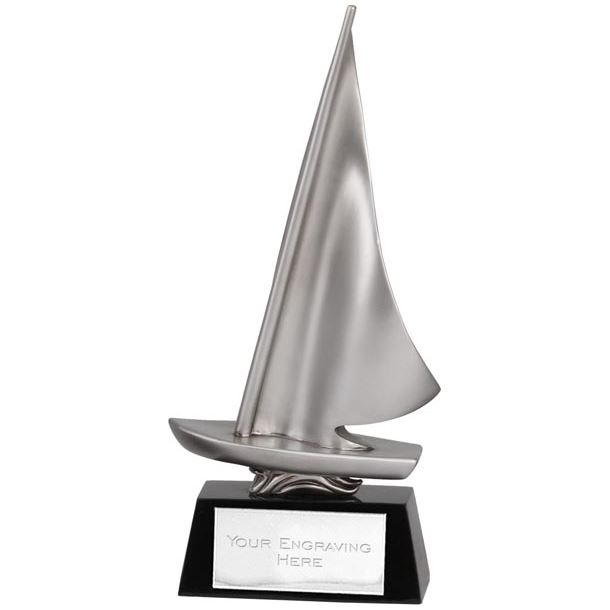 "Cast Resin Silver Dinghy Sailing Award 26.5cm (10.5"")"