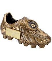 "Resin Antique Gold Premier Football Boot 14.5cm (5.75"")"