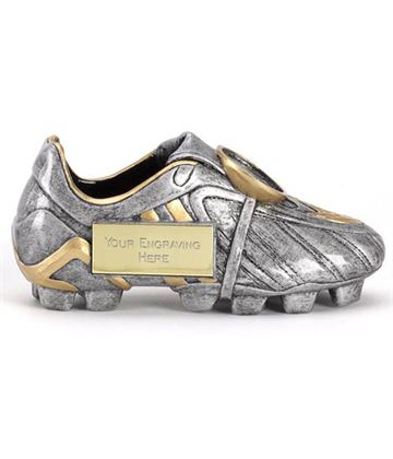 "Antique Silver 3D Football Boot Premier 14.5cm (5.75"")"