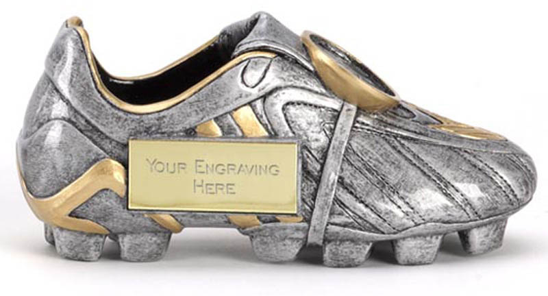 """Antique Silver 3D Football Boot Premier 17.5cm (7"""")"""