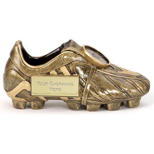 "Resin Antique Gold Premier Football Boot 12.5cm (5"")"