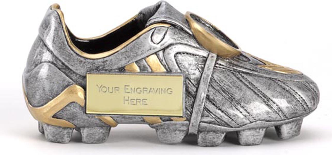 "Resin Silver Premier Football Boot 12.5cm (5"")"
