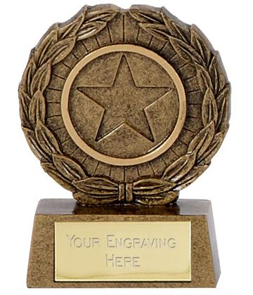 "Resin Mini Star Laurel Wreath Trophy 6.5cm (2.5"")"