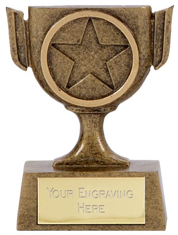 "Resin Mini Star Cup Trophy 6.5cm (2.5"")"