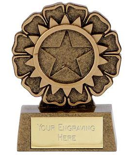 """Resin Mini Star Rosette Trophy 6.5cm (2.5"""")"""