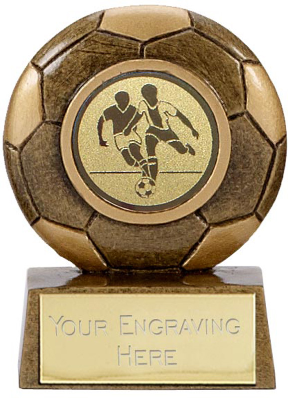 "Antique Gold Resin Mini Football Trophy 6.5cm (2.5"")"