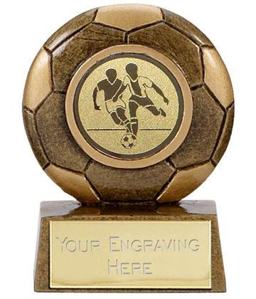 "Antique Gold Resin Mini Football Trophy 6.5cm (2.5"")"