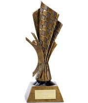 "Resin Antique Gold Moto Elation Trophy 25.5cm (10"")"